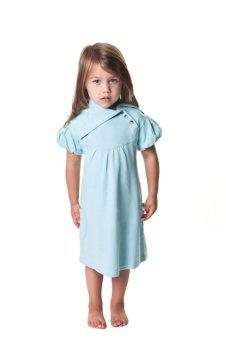 Kate Quinn Organics Skye Short Sleeves Lounge Dress (LightBlue)