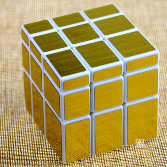 Kathrine mirror gold adhesive paper cube unusual shape cube