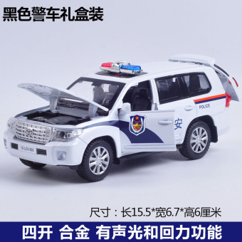 Kawei alloy off-road children's toy car police car