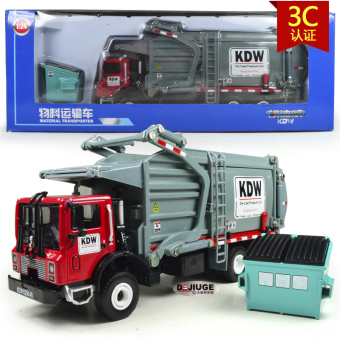 KDW alloy engineering freight truck garbage car model