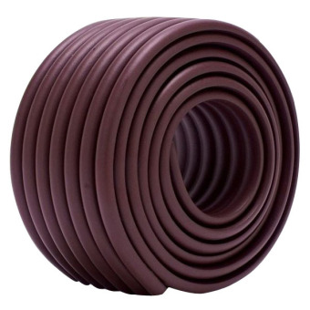 Kid Baby Table Edge Corner Guard Soft Protector Foam Strip SafetyBumper Foam Brown