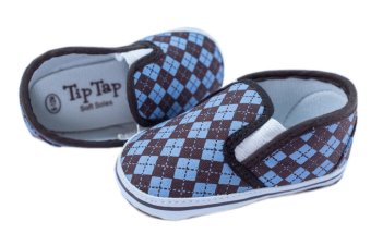 Kid Basix-Tip Tap Argyle Sneakers (Blue) - picture 2