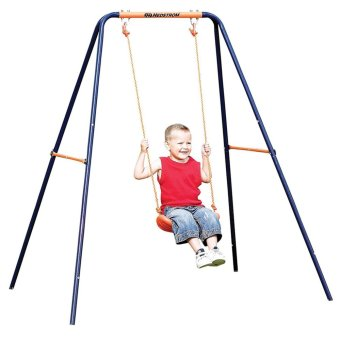 Kid Indoor Outdoor Play Game Toy Swing Seat Set Plastic Hard Bending Plate Chair and Rope,Random Color - intl