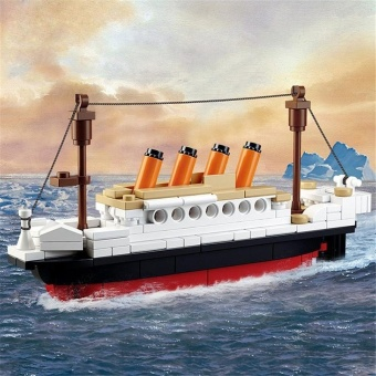 Kids 194 PCS DIY Titanic Ship Building Blocks - intl