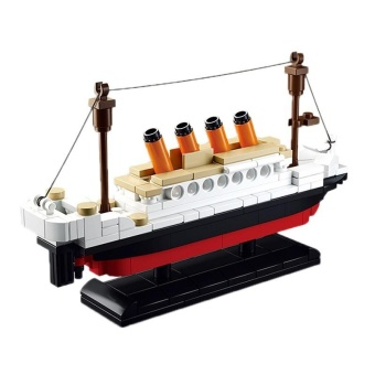 Kids 194 PCS DIY Titanic Ship Building Blocks - intl - 3