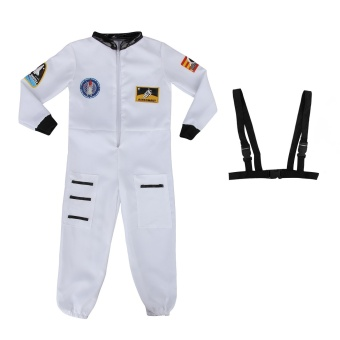 Kids Astronaut Costume Spaceman Fancy Dress Outfit Uniform Halloween Cosplay Costume Spacesuit - Intl