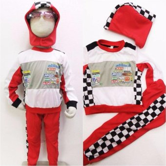 Kids Car Racer Lightning Mcqueen Costume (4 Years Old)
