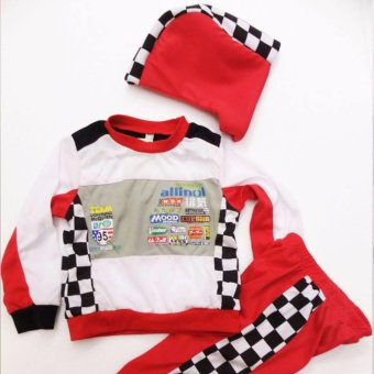 Kids Car Racer Lightning Mcqueen Costume (6 Years Old)