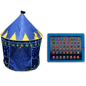 Kids Castle Tent (Blue) with Ypad Multimedia Learning Computer ToyTool (Blue) Price Philippines