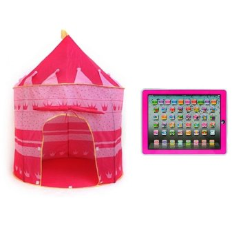 Kids Castle Tent (Pink) with Ypad Multimedia Learning Computer ToyTool (Pink) Price Philippines