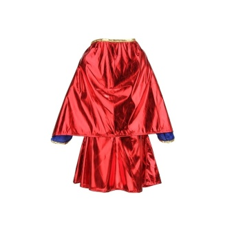 Kids Child Girls Costume Fancy Dress Superhero Supergirl Comic Book Party Outfit - Intl - 3