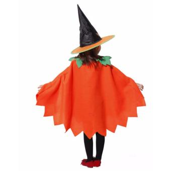 Kids Costume Halloween Costume Pumpkin Witch Costume Birthday Children Cosplay Party Photography Outfit Jack O Lantern Costume 4-5Yrs - 3