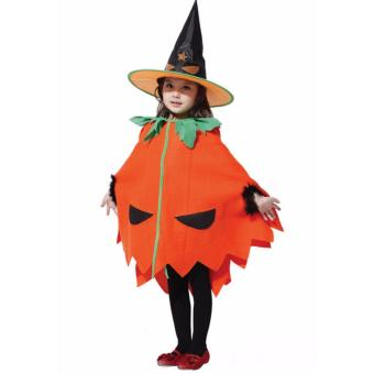Kids Costume Halloween Costume Pumpkin Witch Costume Birthday Children Cosplay Party Photography Outfit Jack O Lantern Costume 4-5Yrs - 2