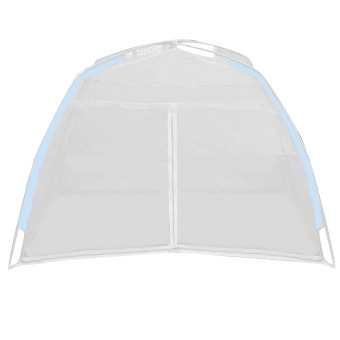 Kids Infant Bed Folding Nursery Bed Crib Anti Mosquito CanopyMosquito Net Netting Play Tent House Blue Brim