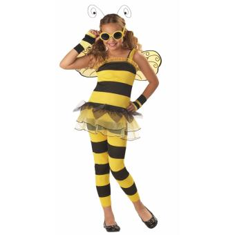 Kids Little Honey Bee Costume Animal Halloween Outfit Size 4-6years old