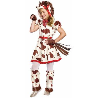 Kids Lucy Appaloosa Pony Animal Costume Size 6-7 years old