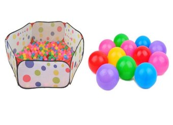 Kids Portable Ball Pool Baby Tent 120cm With 55 PCS Kids BabyColorful Soft Play Balls Toy for Ball Pit Swim Pit Ball Pool