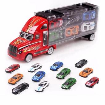 Kids Portable Toy Trailer Truck 12 pcs Racing Cars Price Philippines