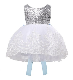 kids Sleeveless Summer Princess Baby Girls Clothes Infant Party Dress Birthday Frock Newborn Toddler Girl Gown Bowknot Lace - intl - 4