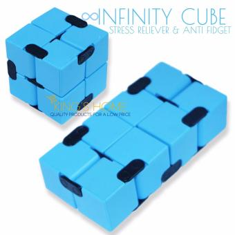 King's Infinity Rubik's Magic Cube Anti Fidget Anti Anxiety Toy with Free Finger Yoyo Thumb Chucks
