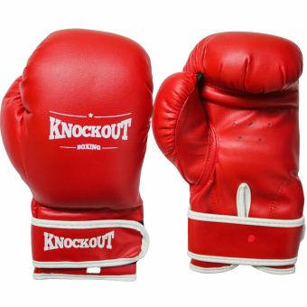 Knockout Boxing Gloves Red 8oz