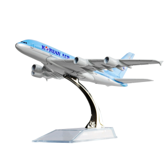 Korean Airbus 380 16cm Metal Airplane Models Child Birthday GiftPlane Models Home Decoration
