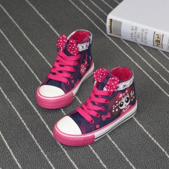 Korean-style lace girls shoes girls canvas shoes