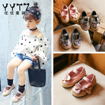 Korean-style men girls Baobao shoes children's leather shoes