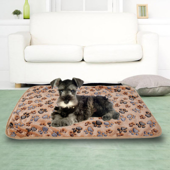 L WARM Pet Blanket Touch Soft Warm Mat Dogs Cat Bed Blanket Mat(Brown) - INTL - picture 2