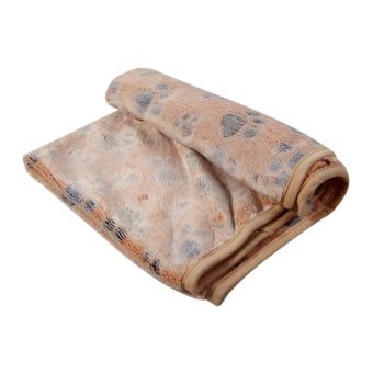 L WARM Pet Blanket Touch Soft Warm Mat Dogs Cat Bed Blanket Mat(Brown) - INTL