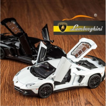 Lamborghini Aventador SV LP750-4 Pull Back Toy Cars 1:32 ScaleAlloy Diecast Car Model Kids Toys Collection Gift - intl