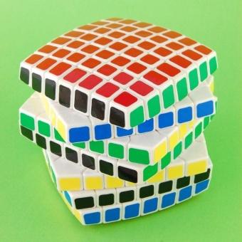 LanLan 7x7 Magic Puzzle Cube Brain Teasers White - intl - 4