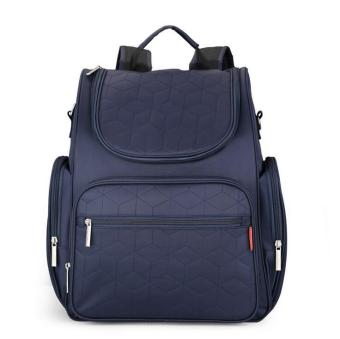 Large Capacity Mummy Bag Backpack Diaper Bags (Navy Blue) - intl
