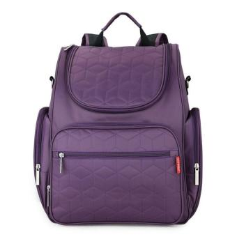 Large Capacity Mummy Bag Backpack Diaper Bags (Purple) - intl