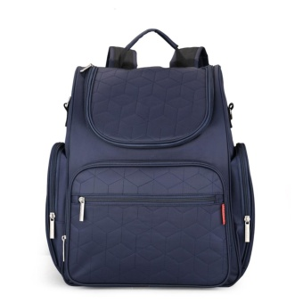 Large Capacity Mummy Maternity Backpack Multi-functional BabyDiaper Bag Changing Mat(Navy Blue - intl