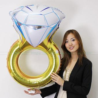 Large diamond ring wedding decoration aluminum foil balloons balloon