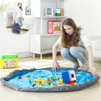 Large Foldable Portable Toy Storage Bag Mat Kids Baby Play MatLarge Storage Bags Toys Organizer - 3
