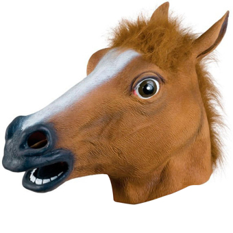 Latex Horse Head Mask for Halloween Carnival Christmas Easter Cosplay Costume Party Decoration Brown