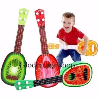 lazada and USA best selling Musical Guitar Toys 4 String AcousticGuitar Toy for Kids Mini Fruit Guitars(Multicolor)