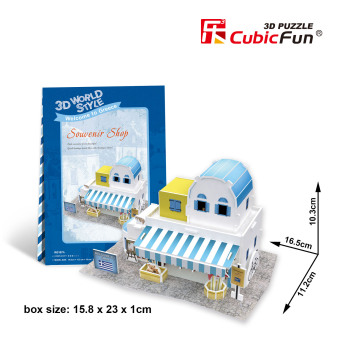 Le cube World Series stereoscopic 3D puzzle