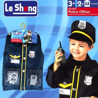 Le Sheng Dress Up Police Officer Costume (Black)
