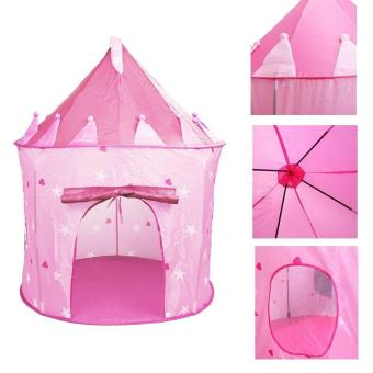 leegoal Outdoor Indoor Ger Fairy Tale Castle Princess Play TentKids Pink Playhouse Gifts,Pink - intl Price Philippines