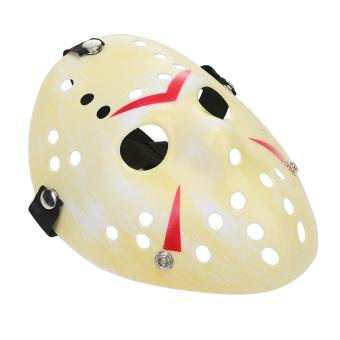 leegoal Thickening Fade Yellow Jason Mask Halloween Custume Ball Party Horror Funny Cosplay Face Mask - intl - 2
