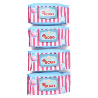 Li'l Tots Baby Wipes 70's Pack of 4