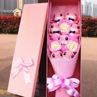 Lilo Stitch Doll Plush Toy Valentines Day Gift To Send His Girlfriend A Birthday