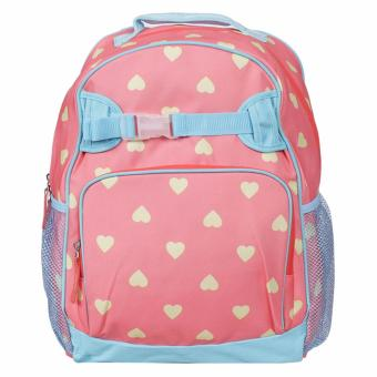Lily and Tucker Hearts Medium Backpack (Peach)