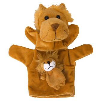 Lion Hand Finger Puppet (Coffee)