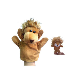 Lion Hand Finger Puppet (Coffee) - picture 2