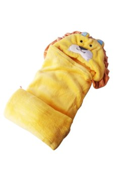 Lion Hooded Blanket (Yellow) - picture 2