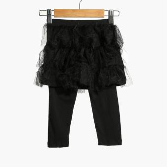 Little Miss Baby Girls Tutu Skirt with Leggings (Black) Price Philippines